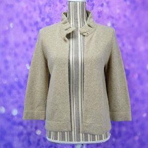 J Crew Wool Cashmere Blend Cardigan Sweater